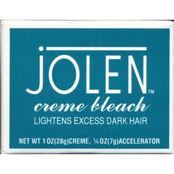 Jolen Cr me Bleach, Lightens Excess Dark Hair, 1 oz (Pack of 2)