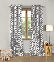 Duck River Textiles Ashmont Blackout Pair Panel - Grey - 76x84""
