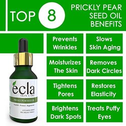 Ecla Prickly Pear Seed Oil (barbary Fig Seed Oil) 100% Pure Usda Certified Organic Anti-aging Serum - The Secret To A Super Hydrated And Glowing Skin 0.5 Oz -15 Ml