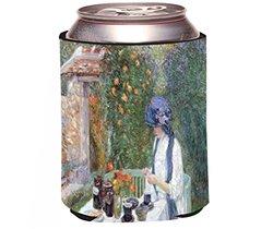 """Rikki Knight Childe Hassam Art """"The Terre-Cuits Tea Set"""" Beer Drink Cooler"""