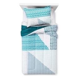 Room Essentials Colorblock Comforter - Teal Blue - Size: Full/Queen