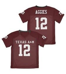 Adidas Boy's NCAA Texas Aggies Football Jersey - Maroon - Size: XS