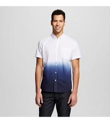 Mossimo Men's Dip Dye Shirt -Navy/White - Size: X-Large