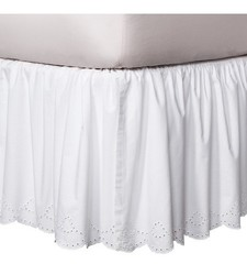 Chic Simply Shabby Eyelet Bedskirt - White - California King