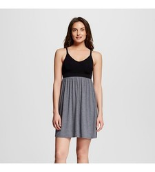 Gilligan & O'Malley Women's Nursing Fluid Knit Chemise - Ebony - Size: M