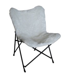 Room Essentials Faux Fur Novelty Butterfly Chair - Ivory