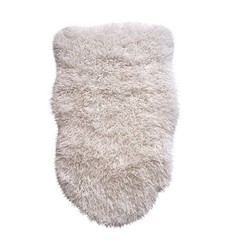 Threshold Luxury Faux Sherpa Pelt - White
