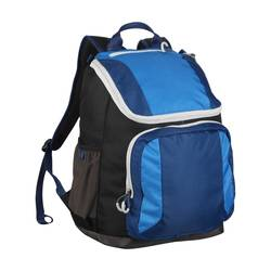 """Embark 17.5"""" Recycled Content Future Tech Backpack - Black/Blue"""