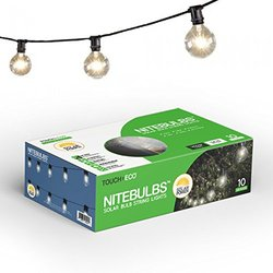 Nitebulbs Set Of 10 Solar String Light Bulbs
