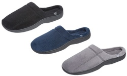 James Fiallo Men's Slip On With Side Logo Slippers: Grey Size Large