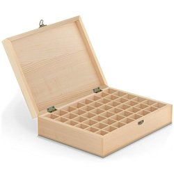 Eco Ultrasonic Essential Oil Carrying Case Wooden Storage 48 count