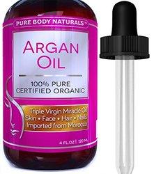 Pure Body Naturals Organic Argan Oil for Skin & Nails - 4 Oz