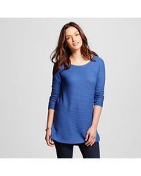 Merona Women's 3/4 Sleeve Tunic Sweater Uniform - Blue Heather - Size: S