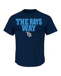 MLB Men's Tampa Bay Rays T-Shirt - Navy - Size: S