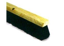 """18""""  Tampico Foam Block Floor Sweep - 3"""" Bristle Trim - Black"""