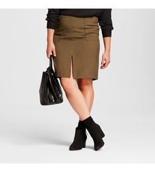Who What Wear Women's Midi Skirt - Paris Green - Size: 2XL