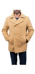 Braveman Men's Wool Blend Coat - Camel - Size: Large