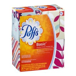Puffs Basic Facial Tissue - 4 box - 64 count