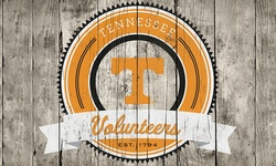 NCCA Tennessee Volunteers Logo On Wood Hanging Art Piece