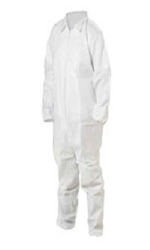 Keystone Key Guard Tyvek Disposable Coverall Case of 25 - White - 3X Large