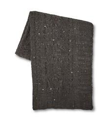 "Threshold Chenille Chunky Knit Throw - Grey - Size: 50""X 60"""