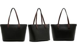 Emilie M. Loren Pebble Satchel Handbag - Black