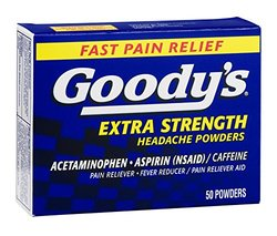 Goody's Pain Reliever Extra Strength Headache Powders Each (Pack of 3, 50
