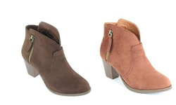 Mata Shoes Women's Chunky-Heeled Ankle Booties - Tan - Size: 8