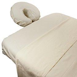 Silken 300 Thread Count 100% Cotton Sateen Massage Sheet Sets (natural)