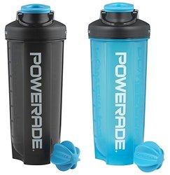 Powerade Mixer Bottle - 28 Oz - 2 Pack - Charcoal/Blue