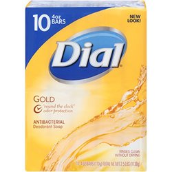 Dial Gold pk. Antibacterial Bar Soap 4-oz, 10