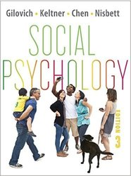 Thomas Gilovich Social Psychology - Third Edition - Paperback