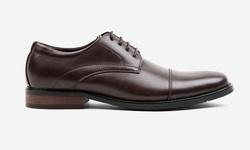 Oak & Rush Men's Cap Toe Oxford Shoes - Brown - Size: 12