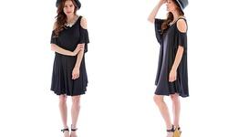 Lyss Loo Sun Kissed Shoulders Dress - Black - Size: S/M