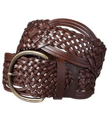Merona Women's Macrame Braid Belt - Brown - Size: XXL