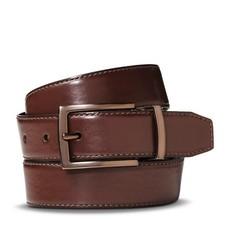 Men's Casual Faux Leather Belt - Brown - Size: 99cm