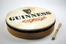 "16"" Irish Guinness Design Bodhrn and Beater"