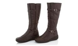 Rasolli Wide Width Comfort Riding Boot - Brown - Size: 7