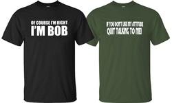 Rock & Luxe Men's Of Course I m Right I m BOB T-Shirt - Black - Medium