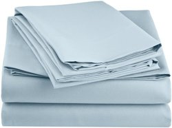 Simple Elegance New York Microfiber Sheet Set: Queen Size Baby Blue 221BB