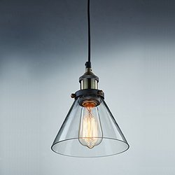 YOBO Lighting Industrial Edison Hanging Lamp Vintage Mini 1-Light Restanrant Kitchen Pendant Lights Fixture