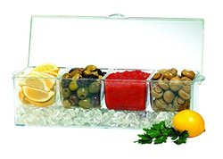 Jumbl Condiments Caddy Chilled Server Tray On Ice