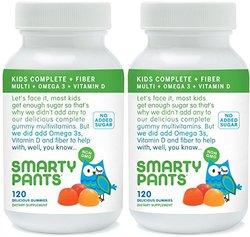 SmartyPants Kids Fiber Complete Multi Vitamin - 120 Gummies - 2 Pack