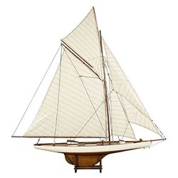 America'S Cup Columbia 1901 Wood Model Ship