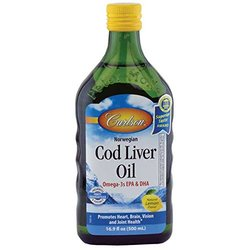 Carlson Cod Liver Oil Natural Lemon Flavor 16.9 Oz