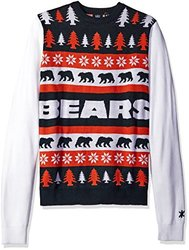 Nfl Unisex Word Mark Ugly Sweater: Chicago Bears/medium