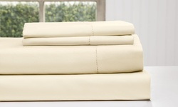 Wexley Home 1200 TC Cotton Rich Sheet Set - Ivory - California King