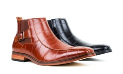 Signature Men's Dress Boots: Black-8.5