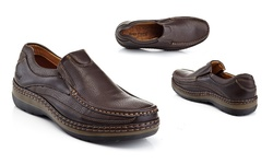 Solo Men's Parker-100 Slip-on Casual Shoes - Brown - Size: 9