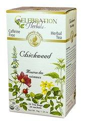 Celebration Herbals Organic Chickweed Herb Tea Caffeine Free -- 24 Herbal Tea Bags